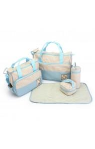 Komplet torbic za mamice Alissa svetlo modra